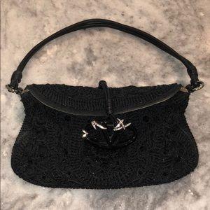 Valentino Flap Crochet Georgett purse